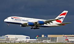 G-XLED - Airbus A380-841 - LHR (Seán Noel O'Connell) Tags: britishairways ba speedbird gxled airbus a380841 a380 heathrowairport heathrow lhr egll 27l ba286 baw6b aviation avgeek aviationphotography planespotting