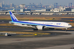 ANA Boeing 777-381/ER JA777A (Mark Harris photography) Tags: spotting plane boeing 777 ana canon hnd japan