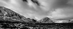 Highlands (NikNak Allen) Tags: scotland scottish highlands scottishhighlands mountain mountains winter snow peaks capped sky cloud clouds view look longexposure landscape grey black white greys blackandwhite