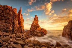 If I could make days last forever DSC_5151 (BlueberryAsh) Tags: capewoolamai thepinnacles susnset clouds rocks rockformations seascape longexposure phillipisland cover secretecove water light magical boulders nikond750 nikon1635