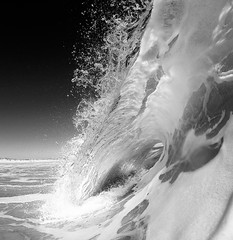 Sparkles (Chris Acheson Photography) Tags: southafrica capetown tube wave ocean blackandwhite