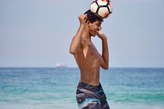 Footvolley player (alobos life) Tags: ball action copacabana nice beautiful cute brazilian boy garoto rio de janeiro brasil brazil skinny beach playa mar sea