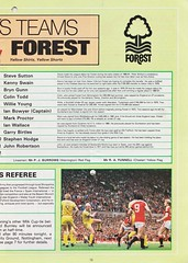 Manchester United vs Nottingham Forest - 1983 - Page 13 (The Sky Strikers) Tags: manchester united nottingham forest milk cup road to wembley old trafford review official season programme 30p