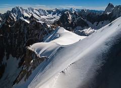 Mont Blanc (Leonardo Đogaš) Tags: alpe alps snow snijeg france francuska europe climbing mountain planina sky blue vrh top aiguilledumidi grandesjorasses aiguilleverte montblanc leonardođogaš mountainclimbing