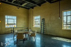 VIP Lounge (billmclaugh) Tags: thesteamplant dpl daytonpowerlighting themerc dayton ohio steam plant power industry industrial pipes rust factory renovated eventhall weddings parties canon 5dmiii tse24mmf35lii tiltshift highdynamicrange hdr adobe lightroom photoshop on1 perfecteffects