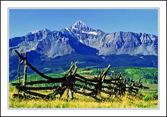 An Old Time Split Rail Fence in Colorado - 1991 (sjb4photos) Tags: colorado coloradorockies sanjuanmountains epsonv500 fence fencefriday hff