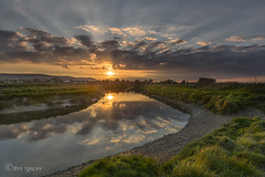 See what`s around the bend (Through Bri`s Lens) Tags: sussex beeding bramnber upperbeeding riveradur sunset sunsetreflections river riverbank sky clouds midges brianspicer canon5dmk3 canon1635f4 leereversegrad