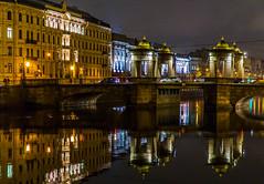 St. Petersburg 2019 (Смирнов Павел) Tags: stpetersburg 2019 city night fontanka санктпетербург город ночь фонтанка river bridge река мост