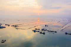 Xiapu, Fujian    福建霞浦 (Jennifer 真泥佛 * Taiwan) Tags: 船 夕陽 sunset xiapufujian 霞浦 空拍 m2p china xiapu t