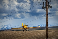Over The Top (James Neeley) Tags: idaho airplane cropduster farming tetonvalley jamesneeley