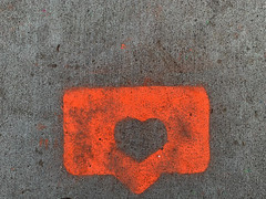 Thought for Today: Love.jpg (remiklitsch) Tags: street art streetart graffiti remiklitsch iphone losangeles la orange hellosunshine love friday flickr heart urban thoughtfortoday gratitude neon sidewalk stencil