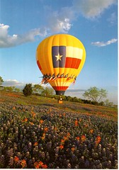 Postcrossing US-6011325 (booboo_babies) Tags: balloon hotairballoon texas bluebonnets flowers field bluesky postcrossing