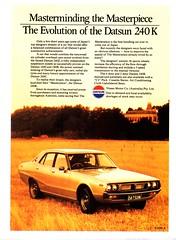 1977 Datsun 240K 4 Door Nissan Aussie Original Magazine Advertisement (Darren Marlow) Tags: 1 2 4 7 9 77 1977 d datsun 240k s sedn n nissan c car cool collectible collectors classic a automobile v vehicle j jap japan japanese asian asia 70s