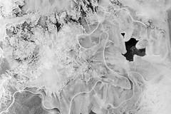 Ice Texture (Lee Petersen) Tags: alaska biking denalinationalpark spring ice icecrystals stream macro water texture