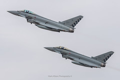 Italian EF-2000 Typhoon Pair (Mark_Aviation) Tags: italian ef2000 typhoon pair 3701 mm7307 3745 mm7345 depart riat 2018 16072018 air force italy riat18 military aircraft airshow jet plane loud fast afterburner