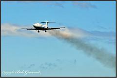 N164W Northrop Grumman - Last Flight, Low Pass (Photo #1) (Bob Garrard) Tags: n164wnorthropgrummanfinalflight lowpass bac 111401ak oneeleven american airlines n5044 danair london gaxck bwi kbwi