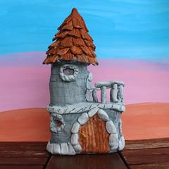Locked in my castle (Argyro Poursanidou) Tags: craft handmade castle