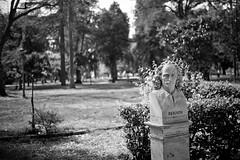 Gian Lorenzo Bernini (Carsten JS) Tags: rom bernini rome park nature sculpture blackandwhite