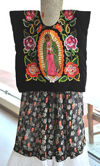 Huipil Zapotec Traje Tehuantepec Oaxaca Mexico (Teyacapan) Tags: traje zapoteco istmo oaxaca mexico museum guadalupe embroidery mexican textiles huipil