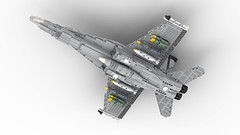 LEGO F/A-18 SUPER HORNET   1:31 Minifigure Scale (DarthDesigner) Tags: ldd moc builds instructions bricks brick mocs legodigitaldesigner starwars oninemesis thedarthdesigner tdd military lego digitaldesigner darth f18 fa18 f18hornet superhornet