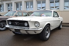 Ford Mustang (Monde-Auto Passion Photos) Tags: voiture vehicule auto automobile ford mustang coupé blanc white ancienne classique collection rassemblement france courtenay
