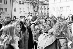 Save the planet. (auqanaj) Tags: 20190330bis20190412 kodakgold200 minoltacle summicronc40mm120 analog cewescanat72dpi film street strase strasenszene demo demonstration deutschland demokratie fridaysforfuture schüler studenten demonstranten monochrome blackandwhite schwarzweis dokumentation zeitgeschichte germany amberg bayern bavaria umwelt aktivisten environment activists