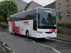 Edinburgh Coach Lines Van Hool EX16 YJ19AYT, in Globus Tours livery, at Abbeyhill, Edinburgh, on 6 May 2019. (Robin Dickson 1) Tags: busesedinburgh vanhoolex16 yj19ayt edinburghcoachlines globustours