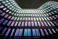 Black Building (freephysique) Tags: noir black immeuble de bureaux building issy les moulineaux france architecture colors catchy abstract perspectiv perspective nikon d750 couleurs