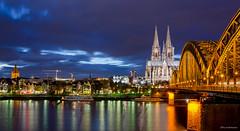 Dom zu Köln (wernerlohmanns) Tags: langzeitbelichtung lichter landscape köln kölnerdom hohenzollernbrücke altstadt architektur