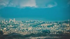 بانوراما لمدينة القدس والمسجد الأقصى المبارك كما تظهر من مدينة مادبا في الأردن (ebrahemhabibeh) Tags: