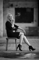 Havin´a break (VintageLensLover) Tags: porträt porträtfotografie lostplace homburgerpapiermühle papiermühlenümbrecht blackandwhite schwarzweis monochrome bw sw