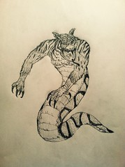 Splicing (Gallisuchus (Clayface)) Tags: batman beyond splicers villain abel cuvier chimera monster drawing pencil sketch