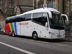 Weardale Coaches of Stanhope Irizar i6 Integral YT19KUY at Johnston Terrace, Edinburgh, on 6 May 2019. (Robin Dickson 1) Tags: weardaleofstanhope busesedinburgh trafalgartours irizari6integral yt19kuy