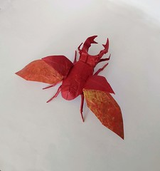Flying Stag Beetle (orig4mi.) Tags: stagbeetle origami paperfolding