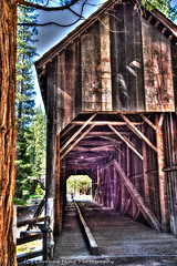 Revealed Covered Bridge (lavonnehing) Tags: coveredbridge hdr mariposa photomatix spring yosemite yosemitevalley