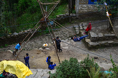 Children playing in mountain village (phuong.sg@gmail.com) Tags: annapurna architecture asia asian background buildings child children cottage country countryside culture editorial environment girl green hiking hill himalaya himalayan home house indian land landscape local lodge mountain nature nepal outdoor rural scenery tourism traditional travel trek trekking valley view village