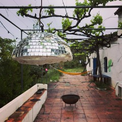 A rainy day in paradise (vapour trail) Tags: spain europe country almunecar andalucia molino house abode terrace vine fire pit