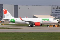 Viva Aerobus  Airbus A320-271N D-AXAH_(XA-VIA) (widebodies) Tags: hamburg finkenwerder xfw edhi widebody widebodies plane aircraft flughafen airport flugzeug flugzeugbilder viva aerobus a320271n daxahxavia airbus