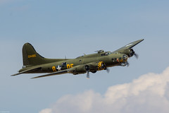 Boeing B-17 Flying Fortress 'Sally B' at Flying Legends 2018, Duxford UK (Jeroen.B) Tags: show uk flying air airshow legends duxford warbird 2018 flyinglegends egsu sally b17 boeing fortress b adf