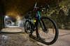 Gravel bike inside Hovelange tunnel