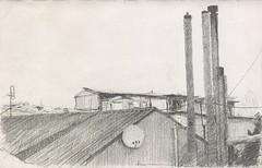 Ruined skylight (Bohdan Tymo) Tags: pencildrawing urban decay