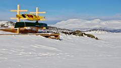 Hibernating (Abisko, Sweden) (armxesde) Tags: pentax k3 schweden sweden norrboten lappland lapland winter snow schnee abisko lake see torneträsk himmel sky frozen gefroren boat boot ricoh