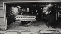 (F.S.F) Tags: garage black white 1963 chevrolet impala