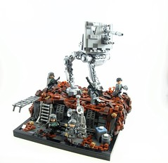 AT-DT On Mimban (NS Brick Designs) Tags: nsbrickdesigns mimban lego starwars soloastarwarsstory solo hansolo atdt walker landscape vignette scene battle trenches terrain vehicle stormtroopers officers empire imperial may 4th