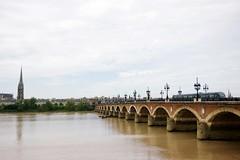 2015.8.26 @ガロンヌ川とピエール橋 (black10f) Tags: travel world worldtravel france train tram building bordeaux bridge river worldheritage europe pentax k3