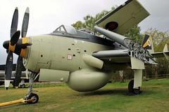 FAIREY GANNET AT YORKSHIRE AIR MUSEUM ELVINGTON (toowoomba surfer) Tags: aircraft aviation aeroplane royalnavy museum airmuseum aviationmuseum