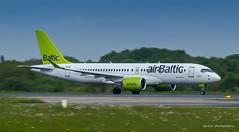 Air Baltic A220-300 YL-CSC (sylvain44) Tags: a220 cs300 bombardier airbus air baltic nantes riga