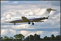 "N164W Northrop Grumman - Last Flight, ""Final"" Final Approach (Bob Garrard) Tags: n164wnorthropgrummanlastflight approach bac 111401ak oneeleven 111 american airlines n5044 danair london gaxck bwi kbwi"