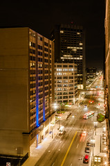 Michigan Avenue (Victor Dvorak) Tags: michiganavenue detroit michigan longexposure nightphotography availablelight citylights downtown evening nikon d300s 20mmf28d