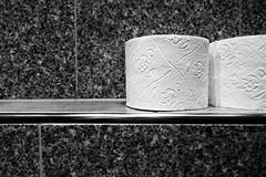 Essen Nightlife (frankdorgathen) Tags: sonyrx100m3 sonyrx100iii monochrome blackandwhite schwarzweiss schwarzweis banal mundane ruhrpott ruhrgebiet rüttenscheid essen mittendrin pub kneipe toiletpaper toilettenpapier toilette toilet wc restrooms